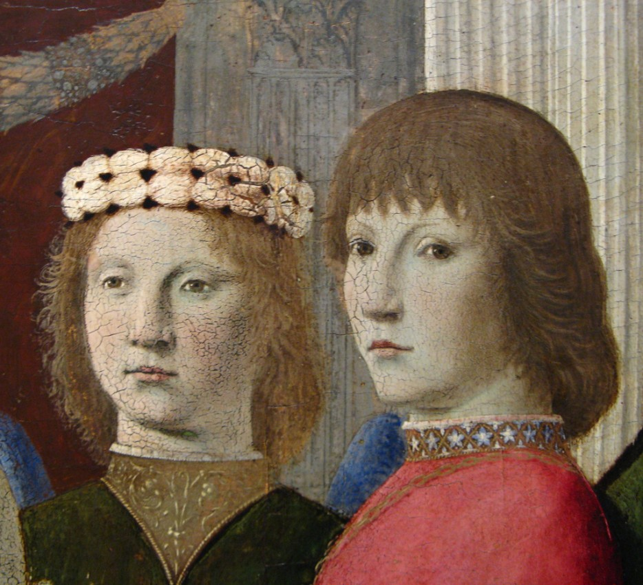 Detail of Piero della Francesca's Virgin and Child Enthroned with Four Angels (The Clark Art Institute). Photo © Mike Wegner, used by kind permission.