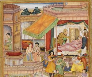 Persian miniature - Baby Akbar