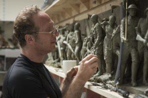 Sabin Howard - sculpting maquette of A Hero's Journey